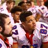 11-24-17<br /> Kokomo state football<br /> Kajon East listens to Coach Colby after the game.<br /> Kelly Lafferty Gerber | Kokomo Tribune