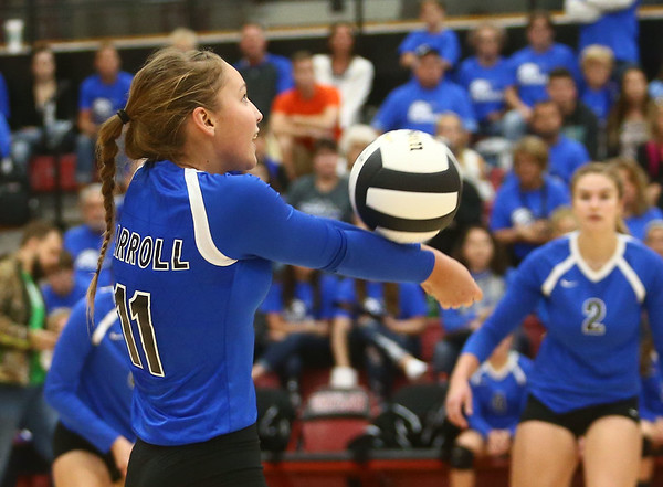 10-21-17<br /> Carroll vs Rochester volleyball<br /> Grace Flibrun<br /> Kelly Lafferty Gerber | Kokomo Tribune