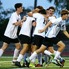 10-4-17<br /> Western vs Northwestern boys soccer<br /> Western celebrates after John Maher scores in overtime.<br /> Kelly Lafferty Gerber | Kokomo Tribune