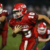 10-6-17<br /> Lewis Cass vs Tipton football<br /> LC's Case Crozier runs the ball.<br /> Kelly Lafferty Gerber | Kokomo Tribune