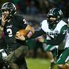 10-27-17<br /> Western vs Pendleton Heights football<br /> Western's Tyler Knepley outruns PH's defense on to score a touchdown.<br /> Kelly Lafferty Gerber | Kokomo Tribune