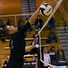 Volleyball sectional between Western HS and Maconaquah HS on October 12, 2017. Maconaquah's Alice Miller was a dominate force for her team but the were not able to pull off a win.<br /> Tim Bath   Kokomo Tribune