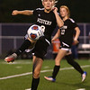 10-5-17<br /> Western vs Oak Hill girls soccer<br /> Western's Grace Sullivan.<br /> Kelly Lafferty Gerber | Kokomo Tribune