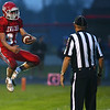 10-6-17<br /> Lewis Cass vs Tipton football<br /> LC's Gabe Eurit celebrates after scoring LC's first touchdown.<br /> Kelly Lafferty Gerber | Kokomo Tribune