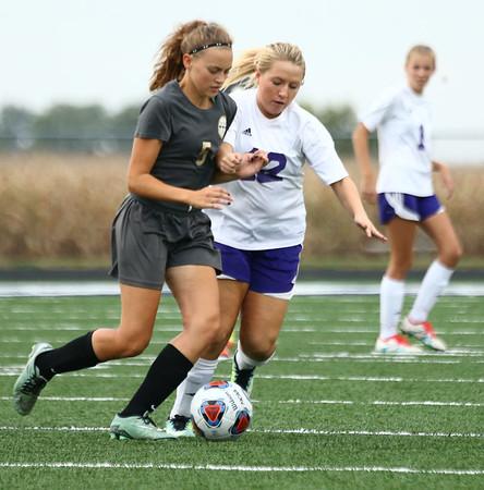 10-3-17<br /> Northwestern vs Delphi girls soccer<br /> Mariah Clark.<br /> Kelly Lafferty Gerber | Kokomo Tribune
