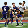 10-4-17<br /> Western vs Northwestern boys soccer<br /> Western's Coby Mims goes after the ball with NW defense.<br /> Kelly Lafferty Gerber | Kokomo Tribune