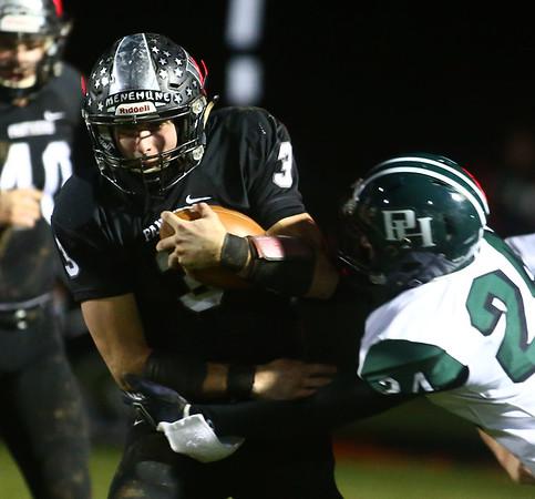 10-27-17<br /> Western vs Pendleton Heights football<br /> Tyler Knepley runs the ball.<br /> Kelly Lafferty Gerber | Kokomo Tribune