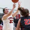 10-31-17<br /> Taylor vs Clinton Prairie girls basketball<br /> Taylor's Lanee Butzin shoots.<br /> Kelly Lafferty Gerber | Kokomo Tribune