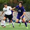 10-4-17<br /> Western vs Northwestern boys soccer<br /> Western's Logan Boyer and NW's Caleb Treadway.<br /> Kelly Lafferty Gerber | Kokomo Tribune