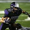 10-20-17<br /> Northwestern vs Blackford football<br /> NW's Evan Cardwell runs the ball.<br /> Kelly Lafferty Gerber | Kokomo Tribune