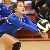 10-21-17<br /> Carroll vs Rochester volleyball<br /> Paige Jones<br /> Kelly Lafferty Gerber | Kokomo Tribune
