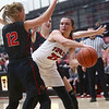 10-31-17<br /> Taylor vs Clinton Prairie girls basketball<br /> Taylor's Shaelah Eliason looks for a pass.<br /> Kelly Lafferty Gerber | Kokomo Tribune