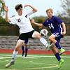 10-4-17<br /> Western vs Northwestern boys soccer<br /> Western's Max Harbaugh and NW's Jackson Hale.<br /> Kelly Lafferty Gerber | Kokomo Tribune