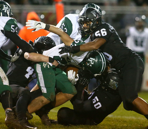 10-27-17<br /> Western vs Pendleton Heights football<br /> Western's defense takes down PH Joseph Rios.<br /> Kelly Lafferty Gerber | Kokomo Tribune