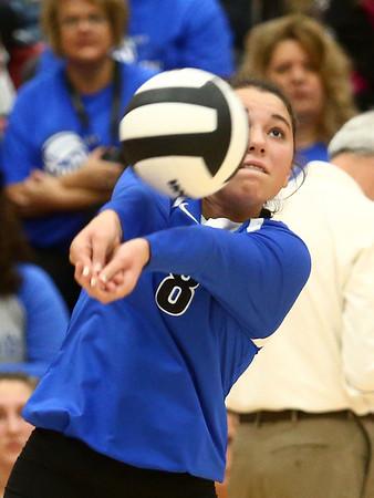 10-21-17<br /> Carroll vs Rochester volleyball<br /> Carroll's #8<br /> Kelly Lafferty Gerber | Kokomo Tribune