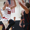 10-31-17<br /> Taylor vs Clinton Prairie girls basketball<br /> Shaelah Eliason shoots.<br /> Kelly Lafferty Gerber | Kokomo Tribune
