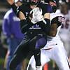 10-20-17<br /> Northwestern vs Blackford football<br /> NW's Noah Cavazos makes the catch.<br /> Kelly Lafferty Gerber | Kokomo Tribune