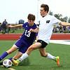 10-4-17<br /> Western vs Northwestern boys soccer<br /> NW's Craig Closson and Western's Connor Rezo go after the ball.<br /> Kelly Lafferty Gerber | Kokomo Tribune