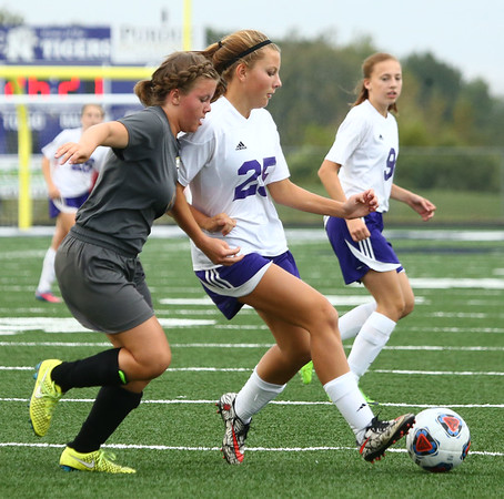 10-3-17<br /> Northwestern vs Delphi girls soccer<br /> Ashlyn Johnson<br /> Kelly Lafferty Gerber | Kokomo Tribune
