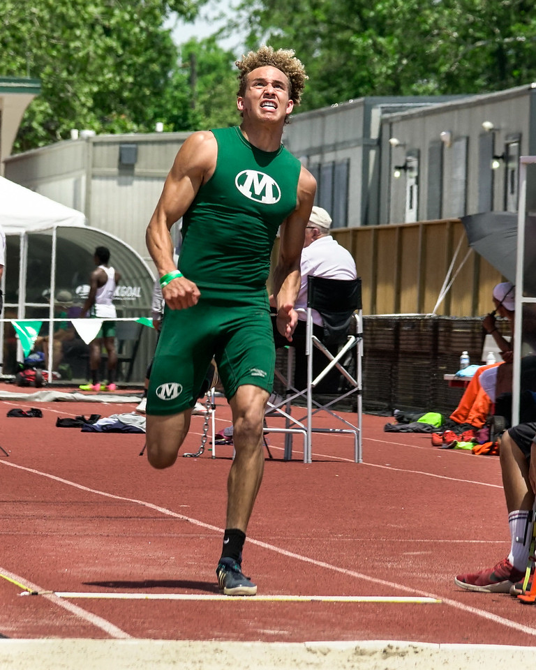 Medina's Da'One Jordan gets ready to take off in the long jump at the Ohio state meet Saturday June 3. JOE COLON / GAZETTE