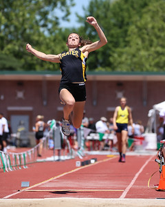 Black River's Romi Smith competes in the long jump at the Ohio state meet June 2. JOE COLON / GAZETTE