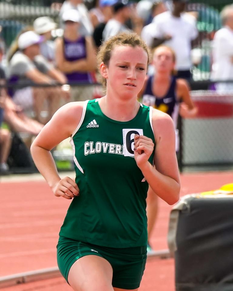 Cloverleaf's Riley Freeland  runs in the 3200 at the Ohio state meet Saturday. JOE COLON / GAZETTE