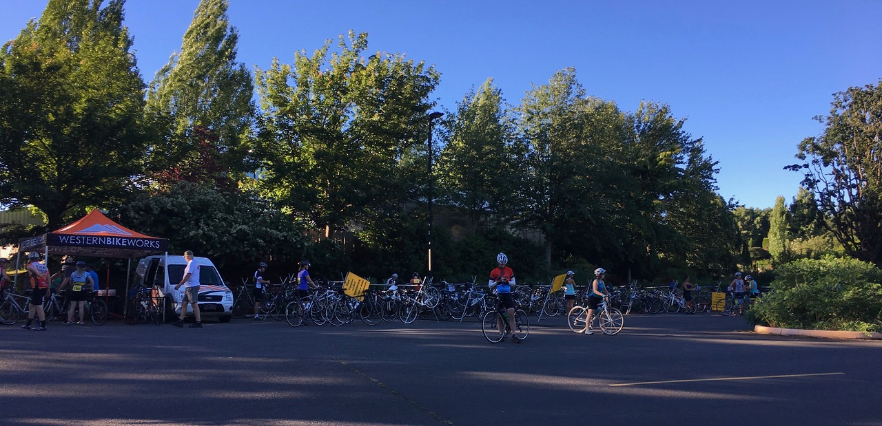 2017 Petal Pedal, 70 mi. 7:30am start.  Already 70 degrees.