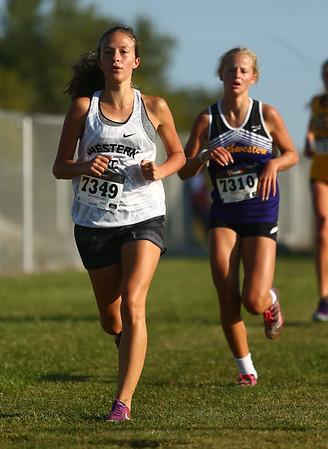 9-9-17<br /> Girls and boys cross country at Maconaquah<br /> Western's Olivia Lushin<br /> Kelly Lafferty Gerber | Kokomo Tribune