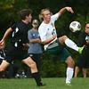 9-16-17<br /> Eastern vs Western boys soccer<br /> Eastern's Lance VanMatre kicks.<br /> Kelly Lafferty Gerber | Kokomo Tribune