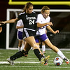 9-14-17<br /> Northwestern vs Western girls soccer<br /> Western's Taylor Kuhns blocks NW's Ashlyn Johnson's kick.<br /> Kelly Lafferty Gerber | Kokomo Tribune
