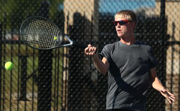 9-28-17<br /> Boys sectional tennis<br /> Western 2 doubles Tate Lockwood<br /> Kelly Lafferty Gerber   Kokomo Tribune