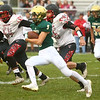 9-8-17<br /> Eastern vs Taylor football<br /> Eastern's Logan McNeil runs the ball.<br /> Kelly Lafferty Gerber | Kokomo Tribune