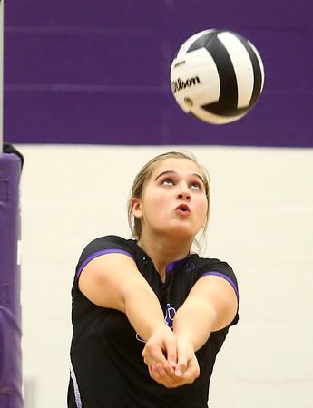 9-26-17<br /> Northwestern vs Western volleyball<br /> NW's Ashley Cunningham<br /> Kelly Lafferty Gerber   Kokomo Tribune