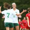 9-6-17<br /> Eastern vs Maconaquah girls soccer<br /> Mallorie Williams is congratulated by Ellie Moore after Williams scores.<br /> Kelly Lafferty Gerber   Kokomo Tribune