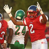 9-22-17<br /> Kokomo vs Anderson football<br /> Donte Smoot signals a touchdown after making a touchdown.<br /> Kelly Lafferty Gerber | Kokomo Tribune