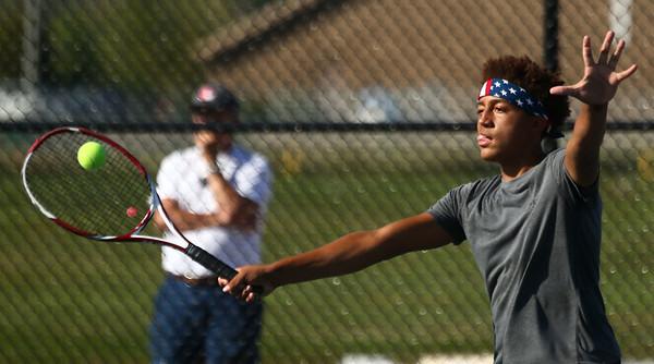 9-28-17<br /> Boys sectional tennis<br /> Western 2 doubles Palmer Harrell<br /> Kelly Lafferty Gerber | Kokomo Tribune