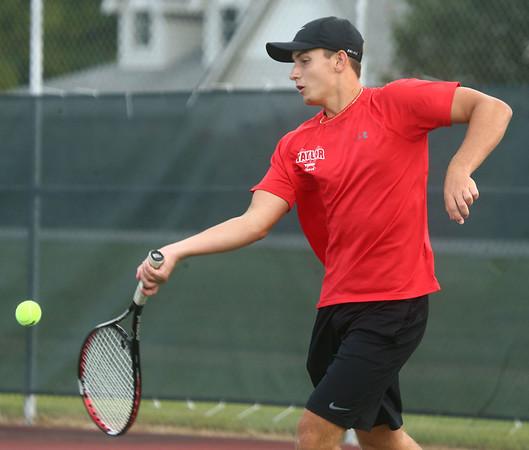 9-7-17<br /> Eastern vs Taylor boys tennis<br /> Taylor 1 singles Bailey Owens<br /> Kelly Lafferty Gerber | Kokomo Tribune
