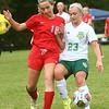 9-6-17<br /> Eastern vs Maconaquah girls soccer<br /> Eastern's Cassie Bryan and Mac's Madelyn Lorenz go after the ball.<br /> Kelly Lafferty Gerber   Kokomo Tribune