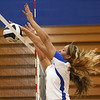 9-13-17<br /> Kokomo vs North Miami volleyball<br /> #11 makes the block.<br /> Kelly Lafferty Gerber | Kokomo Tribune