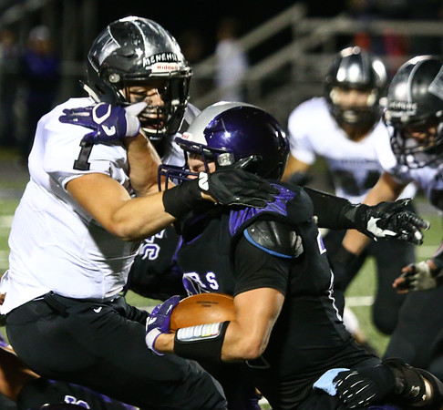 9-29-17<br /> Western vs Northwestern football<br /> Western's And Ashburn helps take down NW's Evan Cardwell.<br /> Kelly Lafferty Gerber | Kokomo Tribune
