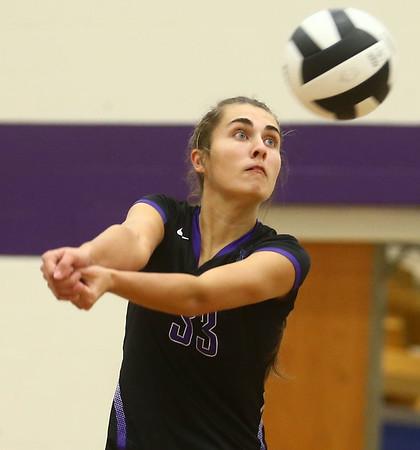 9-26-17<br /> Northwestern vs Western volleyball<br /> NW's Madison Layden.<br /> Kelly Lafferty Gerber | Kokomo Tribune