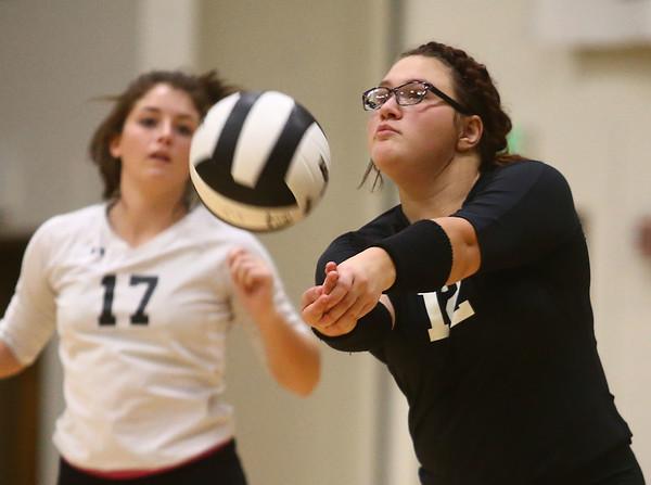 9-21-17<br /> Eastern vs Taylor volleyball<br /> Taylor's Brooklyn Meador.<br /> Kelly Lafferty Gerber | Kokomo Tribune