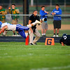 Tipton's first touchdown comes from Sebastian Connor with a dive over the line after being tripped up by Western's Nick Hackler in Friday night's football between Western HS and Tipton HS on Sept. 15, 2017. <br /> Tim Bath | Kokomo Tribune