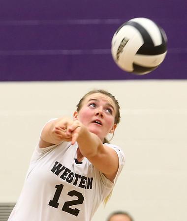 9-26-17<br /> Northwestern vs Western volleyball<br /> Western's Chase Epp<br /> Kelly Lafferty Gerber | Kokomo Tribune