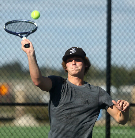 9-28-17<br /> Boys sectional tennis<br /> Western 1 doubles Mason Anderson<br /> Kelly Lafferty Gerber   Kokomo Tribune