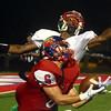 9-22-17<br /> Kokomo vs Anderson football<br /> Jack Perkins catches a pass.<br /> Kelly Lafferty Gerber | Kokomo Tribune