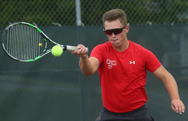 9-7-17<br /> Eastern vs Taylor boys tennis<br /> Taylor 2 singles Peyton Tracy<br /> Kelly Lafferty Gerber | Kokomo Tribune