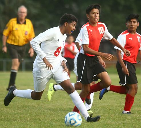 9-12-17<br /> Kokomo vs Logansport boys soccer<br /> Kokomo's Luc Cesar<br /> Kelly Lafferty Gerber | Kokomo Tribune