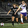 9-14-17<br /> Northwestern vs Western girls soccer<br /> Western's Brooklyn Garber and NW's Olivia Hale go after the ball.<br /> Kelly Lafferty Gerber | Kokomo Tribune