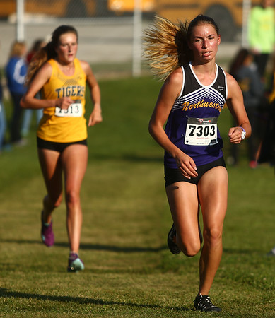 9-9-17<br /> Girls and boys cross country at Maconaquah<br /> NW's Casey Lechner<br /> Kelly Lafferty Gerber | Kokomo Tribune